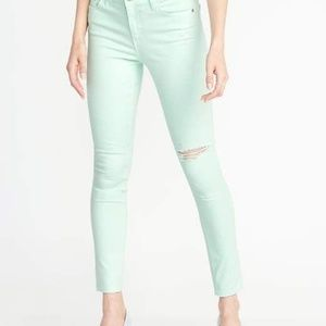 Old Navy|Mid-Rise Rockstar Distressed Super Skinny